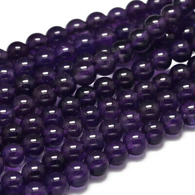 2 Strand Round Grade A Natural Amethyst Bead 6mm Gemstone Loose Spacer Beads
