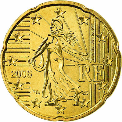 [#702422] France, 20 Euro Cent, 2006, FDC, Laiton, KM:1286