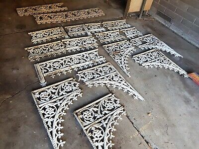 Victorian Cast Iron Lacework - Flower and Vine Design - 7 Straights 6 Corners.