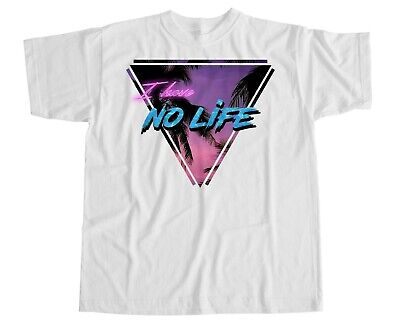 Vaporwave Aesthetic Japanese T Shirt No Life Wave Kanagara Miami Retro