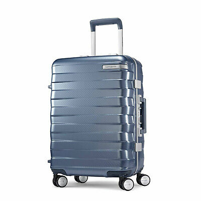 "Samsonite Framelock Hardside Carry On Luggage with Spinner Wheels 20"" Ice Blue"