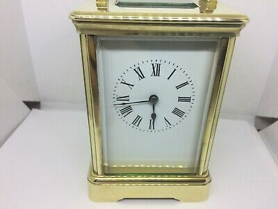 Late 1800s Victorian brass strikng carriage clock super condition working well