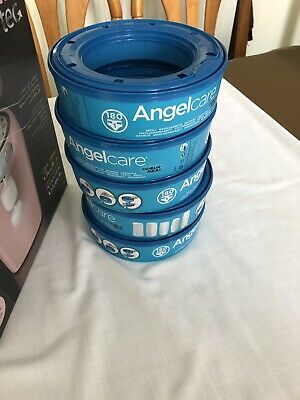 5x Angelcare Nappy Disposal System Refill Cassettes Wrappers Bag Sacks Pack Bin