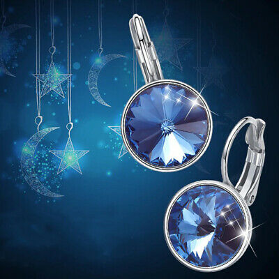 d21d20097ddc2 AUTHENTIC SWAROVSKI MINI Bella Blue Sapphire Crystals Earrings New ...