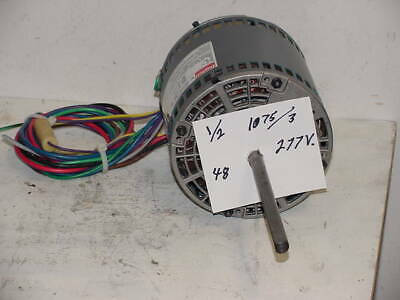 Dayton 3M714  1/2 hp 277V  1075rpm 3 speed  Fan / Blower Motor 1/2hp unused