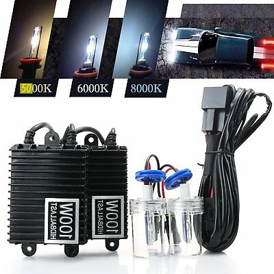 100W HID KIT Headlight Conversion Xenon Bulb Ballast H1 H3 H4-2 H7 H8 9005 9006