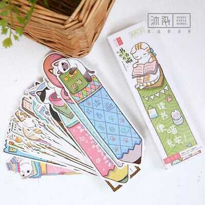 30pcs/lot Cute Funny Cat Shaped Paper Bookmark Gifts Film Book DECO Station Y1C7