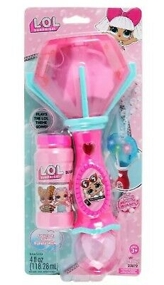 Lol surprise dolls Light and Sound Bubble Wand kids toy, fun in the sun garden