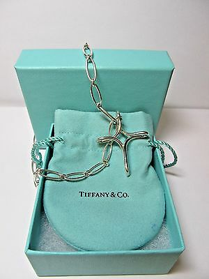 Tiffany & Co. .925 Sterling Silver Infinity Cross Necklace 17.5""