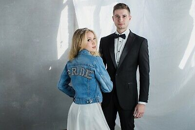 Bride Custom Levi's Vintage Denim Jacket embellished by hand