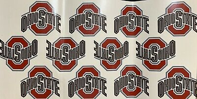 Sheet of Vintage The Ohio State University Water Slide Decals Ceramics NEW