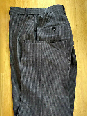 NWOT Brooks Brothers 346 Fitzgerald Gray Pinstripe Wool Pants W34 L31.5