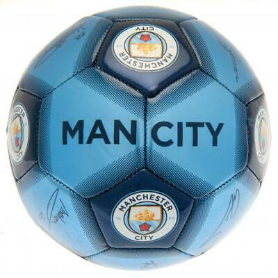 Manchester City Fc Metallic Design Size 5 Signature Football - Official Gift