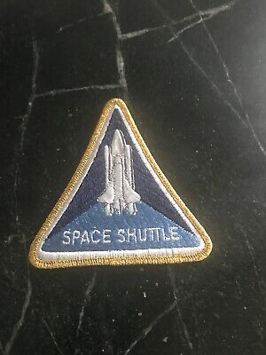 "NASA Space Shuttle Patch Iron Sew On Costume Vtg 80s Retro 4"" Rare"