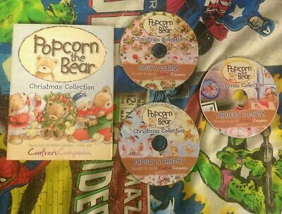 Crafters Companion Popcorn the Bear Christmas Triple CD Collection Crafting