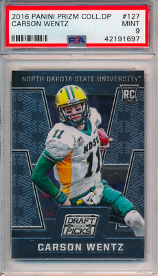 Carson Wentz 2018 Collegiate Draft Picks Rookie Card South