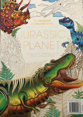 Harmony Of Colour Book 43: JURASSIC PLANET - Latest Adult Colouring Book