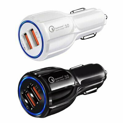 New Quick Charge 3.0 In Car Charger 2 Ports USB QC Fast Charging Adapter
