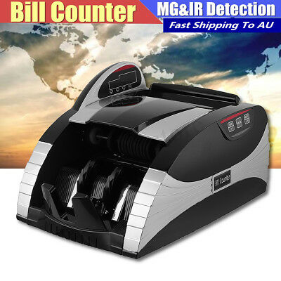 Portable Bill Cash Money Currency Detection Counter Counting UV&MG