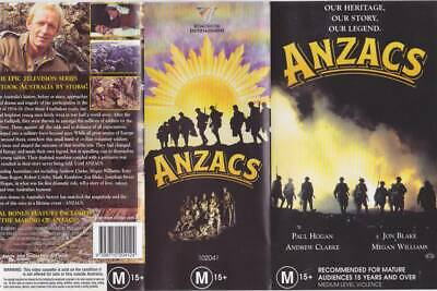 Anzacs Jon Blake Paul Hogan   Vhs Pal Video  A Rare Find