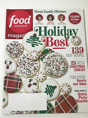 Food Network Magazine December 2018 Holiday Best Edition 25 Christmas Cookies