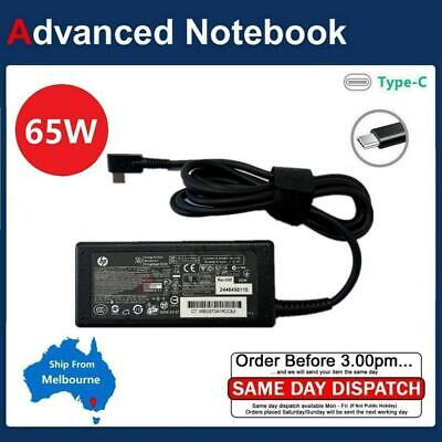 Genuine HP 65W USB-C AC (AUS) Power Adapter Charger 1HE08AA for Notebook Laptop
