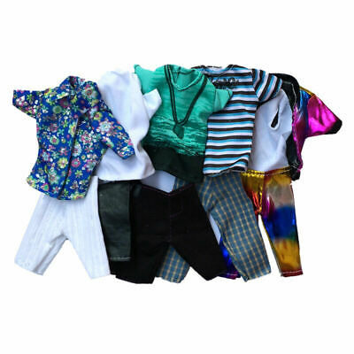 1 Set Doll Clothes Suit For Ken Fashion Handmade Coat For Dolls Super Pants O7T1