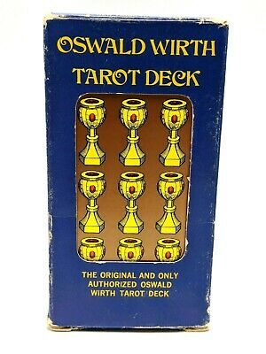 OSWALD WIRTH Tarot Deck  authorized version 1976 vintage complete w/ instruct'ns