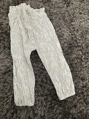 Next Girls Stripped Loose Trousers Age 18-24 months