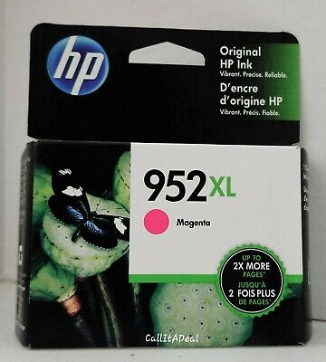 Brand New! Genuine HP 952XL Magenta Ink Cartridge L0S64AN Expires March 2021