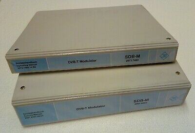 Rohde & Schwarz Operating & Service Manuals for SDB-M DVB-T Modulator