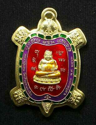 Thai Amulet Turtle LP San With Temple Box  Buddha Magic Lucky Necklace BE.2562