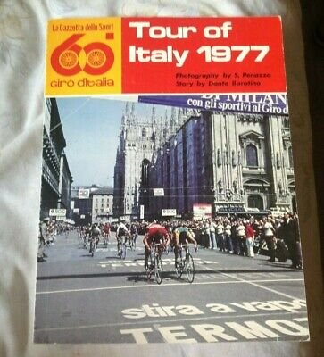CYCLING CICLISMO - Book Tour of Italy 1977 in inglese 60° Giro d'Italia