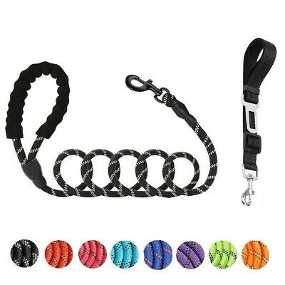 5ft Heavy Duty Dog Leash Rope with Padded Handle Reflective Leash for Large Dogs
