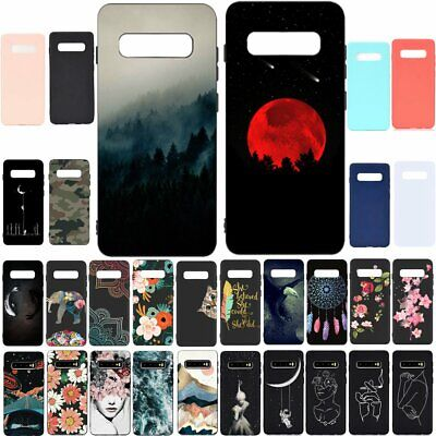 For Samsung Galaxy S10 Plus S10e S9 S8 Soft Silicone Painted TPU Back Case Cover