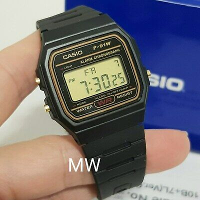 Casio F91W-9A Classic Digital Black Resin Sports Alarm Chronograph Watch New
