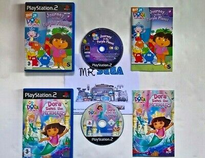 DORA SAVES THE MERMAIDS & DORA JOURNEY TO THE PURPLE PLANET for PLAYSTATION 2
