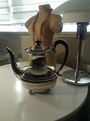 Antique Mappin & Webb Princes Plate Silver Plated & Ebony Georgian Style Teapot