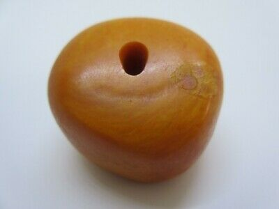 Big Natural Genuine Old Antique Egg Yolk Butterscotch Baltic Moroccan amber Bead