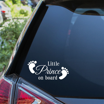 Little Prince On Board Car Sticker Child Baby On Board Window Bumper Decal