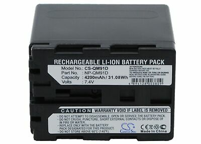NV-A1//E Battery NV-63 P//N HHR-V20A//1B NV-61 4200mAh Replacement for Panasonic LC-1 HHR-V40 NV-3CCD1 HHR-V214A//K