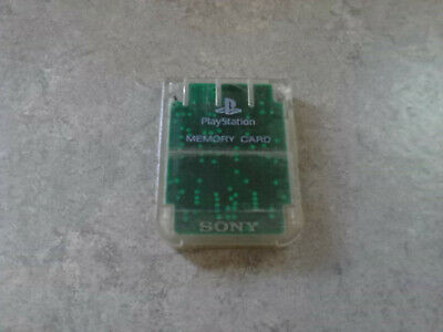Official Sony Playstation 1 PS1 PSOne Memory Card 1MB SCPH 1020 CLEAR FREE SHIP