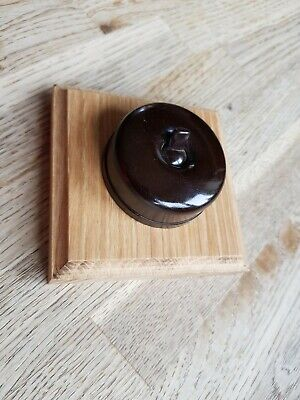 Vintage Round Bakelite Light Switch Antique Art Deco Old Dolly BR