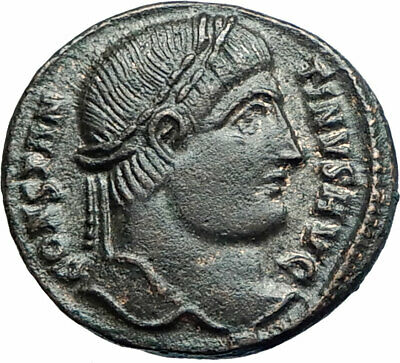 CONSTANTINE I the GREAT 325AD Authentic Ancient Roman Coin WREATH i79396