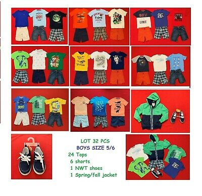Boys Lot Size 5 Clothes Mix And Match Outfits, Jacket And  Shoes