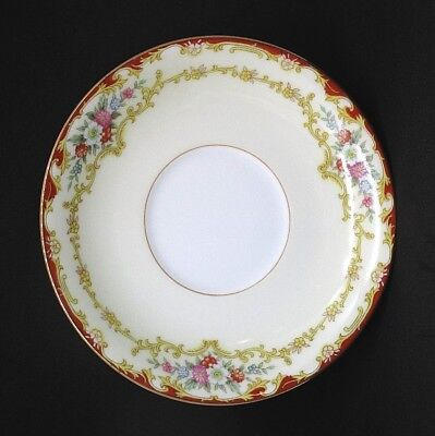 "Vintage Noritake China Japan 591 Dubarry Floral 1930s Saucer 5.5"" Diameter EUC"