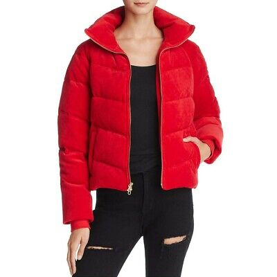 VELOUR DOWN QUILTED Puffer Jacket Blush Pink Size 10 8 Like