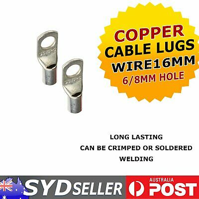 Crimper Tinned Copper Lug Cable Wire Lugs Terminals Marine16mm²-6mm / 16mm²-8mm