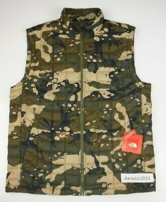 395957bbe NEW THE NORTH Face Thermoball Green Camo Insulated Lightweight Vest ...