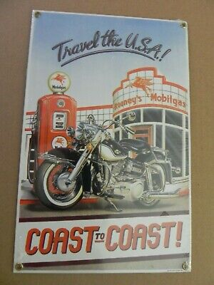 """Mobilgas- Travel the USA!- Ande Rooney-""""Heavy Porcelain""""- NOS- New Sealed!"""